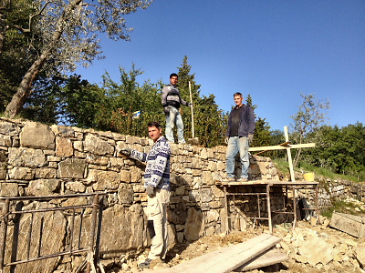 Repairing the dry stone walls