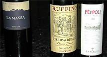 A Super-Tuscan, a Riserva, and an Antinori Chianti Classico