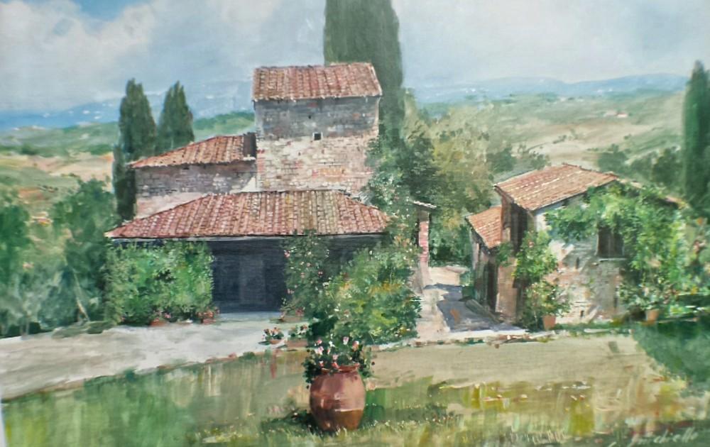 Acrylic painting by Panzano artist Carmine Errichiello, September 2016