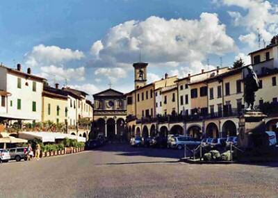 Greve in Chianti - the Piazza