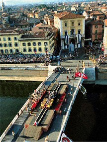 Battle of the bridge, Pisa