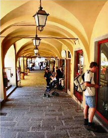 Colonnades, The Piazza, Greve-in-Chianti